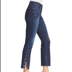 Frame Le High Rise Straight Meribel Jeans Snap